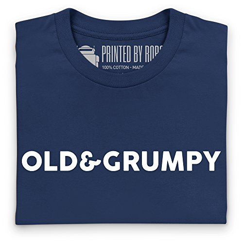 Old And Grumpy T-Shirt, Herren Dunkelblau