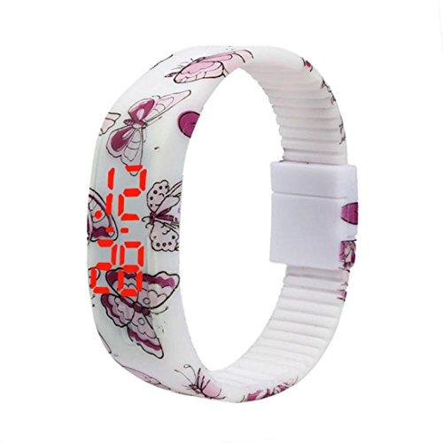 Uhr Herren Damen Uhren Herrenuhr Sportuhr armbanduhr herren DAY.LIN Einfach Dünn Junge Mädchen Sport Silikon Digital LED Armband Armbanduhr