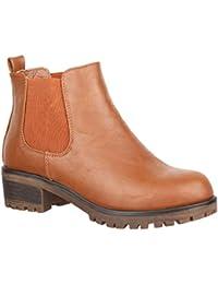b1919769ab1f9 Amazon.es  botines color camel - 8 - 11 cm   Zapatos para mujer ...
