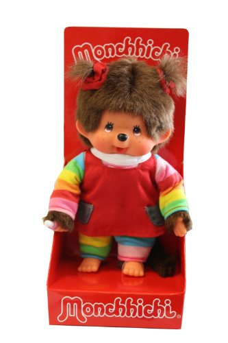 (Monchhichi Girl, Rainbow Tee & Red Junper Shirt, 20 cm)