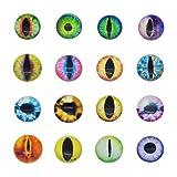Cabujón de cristal redondo de 30 x 30 mm, 50 unidades, para hacer ojos de animales o joyería