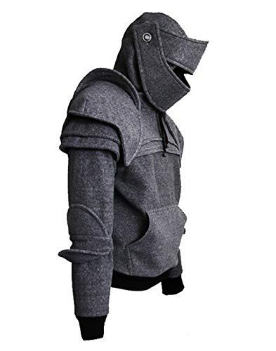 Familie Römischen Kostüm - Römischer Ritter 6D Kapuzen Helm Visor Cosplay Wind Maske Fahrer Pullover