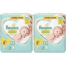 Pampers bebé recién nacido pañales tamaño 1 Premium protección gigante valor pack 2 x 96=