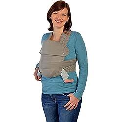 Marsupi 144-50-10-001 Baby und Kindertrage die leichte Bauch und Hüfttrage, S/M, Breeze/grau, genial einfach