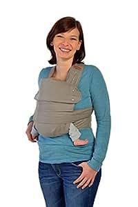 Marsupi Baby und Kindertrage I kompakte Bauch und Hüfttrage I S/M I Breeze / grau I genial einfach