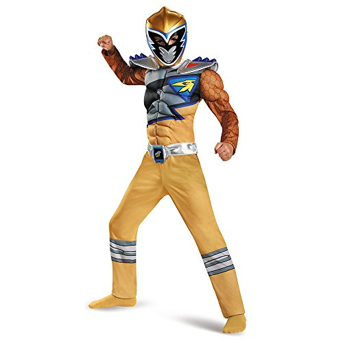 Disguise Gold Ranger Dino Charge Classic Muscle Costume, Small (4-6) by (Gold Ranger Kostüme)