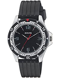 Sonata Analog Black Dial Men's Watch -NH7930PP02C