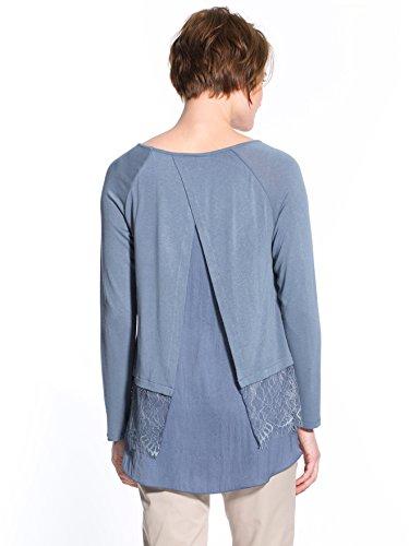 Celaia - Tee-shirt bi-matière, fluide Bleu