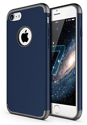 vau Savage Hülle Schutzhülle für Apple iPhone 7 und iPhone 8 ( Case blau & space gray ) Marine Blue