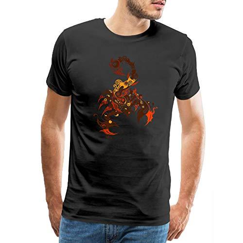 Men s Casual Cotton Tees Brown Scorpion Animal Cartoon Logo Pattern Classic  T-Shirt Short Sleeve 3f4336a86df3
