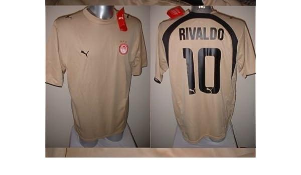 new concept 8a06d 37f26 Olympiakos Rivaldo Brazil Greece Adult XL Shirt Jersey ...