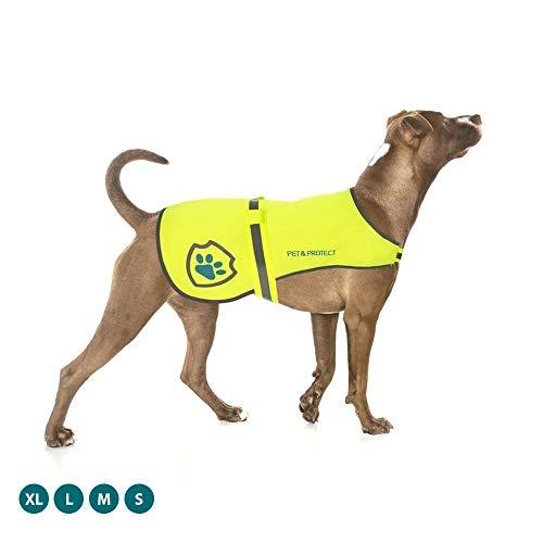 SlipDoctors Premium-Hundeweste, reflektierend, hohe Sichtbarkeit, Sicherheitsweste, Laufen, Joggen, Training, 7 kg - 59 kg (XL)