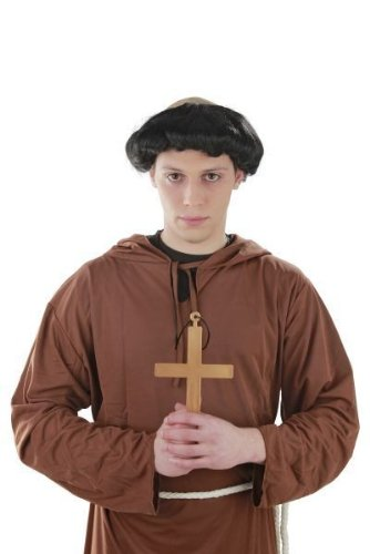Foxxeo Heiliges Kreuz Kostüm Mönch Nonne Priester Karneval (Mönch Priester Kostüm)