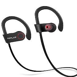 TOPLUS Bluetooth Kopfhörer Bluetooth 4.1 Sport Stereo In Ear Kopfhörer inklusive Mikrofon für iOS- und Android-Geräte usw (Schwarz)