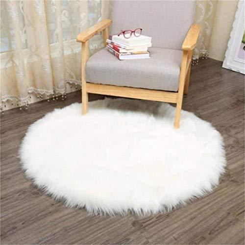 KAIHONG Spitzenqualität Lammfellimitat Teppich, 30 x 30 cm Lammfellimitat Teppich Longhair Fell Optik Nachahmung Wolle Bettvorleger Sofa Matte