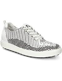 ECCO Casual Hybrid Blanco Negro Zapatos de Golf Mujer