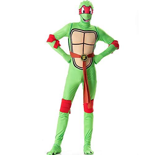 ZSDFGH Ninja Turtles Kostim Erwachsene/Ninja Turtles Kostüm/Fasching Kostüm Kinder/Teenage Mutant Ninja Turtles,Red-XL (Red Ninja Kostüm Kinder)
