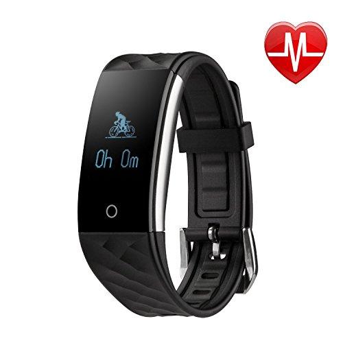 Lypumso Fitness Armband/Fitness Tracker mit puls Bluetooth, Schrittzähler/Armbanduhr mit Herzfrequenz / Schlafanalyse / Kalorienzähler / SMS SNS Wecker Vibration für Android und IOS Handys
