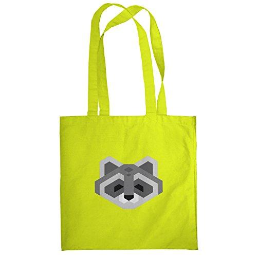 Texlab–Simple Raccoon–sacchetto di stoffa Gelb