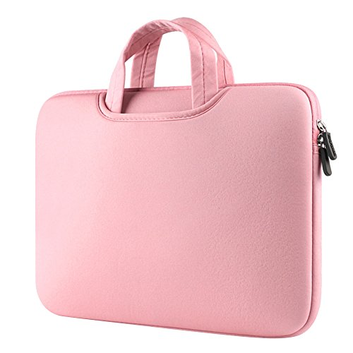 15.6 Pollici ShockProof Custodia Borsa Ventiquattrore Cartella Involucro Sleeve Case per Laptop / Notebook / Computer Portatile / MacBook / MacBook Pro Pink
