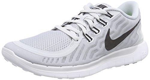 Nike Free 5.0 Herren Laufschuhe Grau (Pure Platinum/Black-Wolf Grey-Clear Grey)