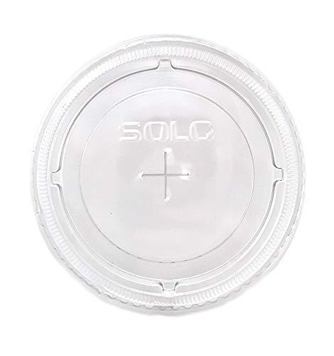 Solo Cup Company Deckel für kalte Becher, mit Strohhalm, transparent, 200 Stück 200 Count farblos