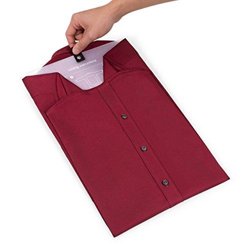 Bolsa Porta Camisas | Organizador De Camisas Resistente Para Viaje Con Asa Y Bolsillo + Plegador | Guarda La Ropa Sin Arrugas En La Maleta | Ten Tu Equipaje Perfecto En Todo Momento | De Blumtal