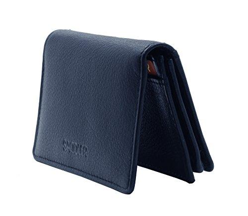 Porta carte di credito e biglietti da visita SADDLER con finestrella per documenti (Peacoat Blue)