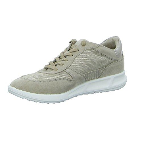 Tamaris Damen 23625 Sneaker Beige (Ivory Str.Comb)