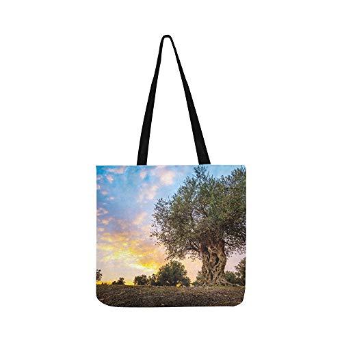 Olive Olive Trees In Olive Gardens Canvas Tote Handtasche Schultertasche Crossbody Taschen Geldbörsen für Männer und Frauen Einkaufstasche