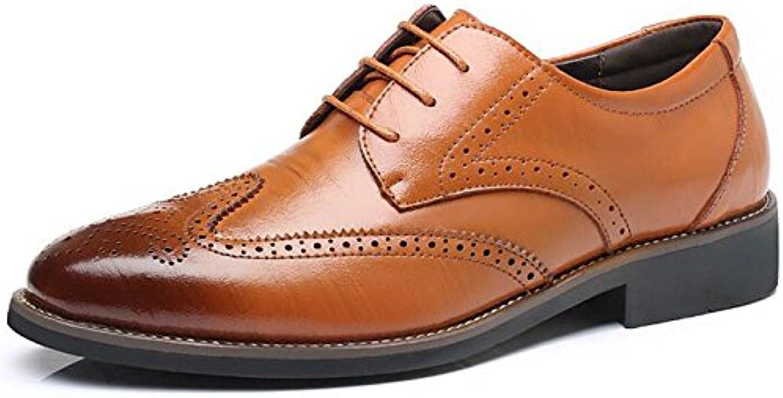 Männer Echtes Leder Schuhe Oxford Brogue Business Kleid Lace up ...