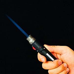 QG® Sturmfeuerzeug, 1300 Grad, Stiftform, nachfüllbar mit Butangas, zum Schweißen und Löten