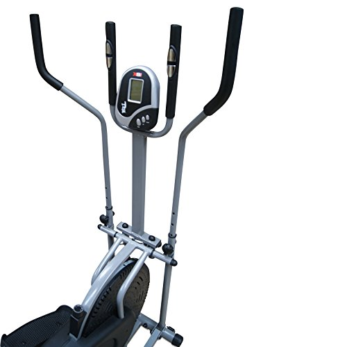 41xVGAKyiWL. SS500  - Pro XS Sports 2-in1 Elliptical Cross Trainer Exercise Bike-Fitness Cardio Weightloss Workout Machine-With Seat + Pulse Heart Rate Sensors