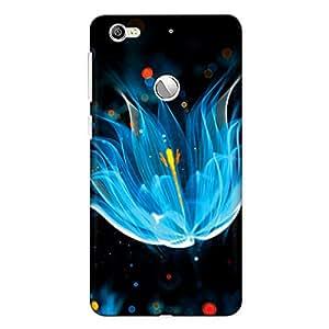 Crazyink Blue Flower Premium 3D Back Cover For Leeco Le 1S