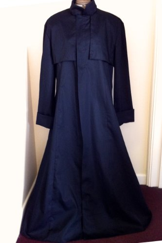 MED Neu! Schwarzer Baumwoll-Drell Duster Coat Matrix/Neo/Morpheus-Kostüm/Mantel