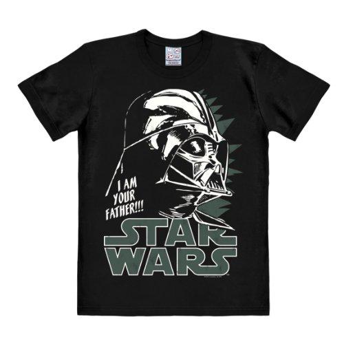 T-shirt Dart Fener - maglia Guerre stellari - Star Wars - Darth Vader - Anakin Skywalker - maglietta girocollo di LOGOSHIRT - nero - design originale concesso su licenza, taglia