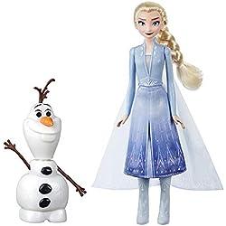 Disney La Reine des Neiges 2 - Poupees Princesse Disney Elsa 29 cm et Olaf 18 cm électroniques