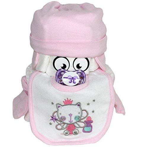 """★ Windeltorte""""PIMFI"""" ★ Geschenk zur Geburt Babyparty Taufe (Rosa (Fee)) Geschenkfertig in Folie verpackt."""