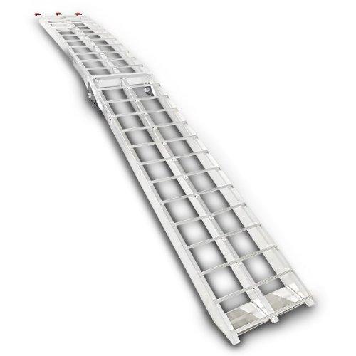 Rampa di carico alluminio Constands II, max. 340 kg, pieghevole, per Harley Davidson Cross Bones (FLSTSB)/Softail Breakout (FXSBSE)/Convertible (FLSTSE)/Street Glide (FLHXSE)