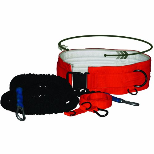 Prism Fitness Viper 360 Speed Trainingsgürtel-Set, orange/schwarz, Medium (Waist 29-32