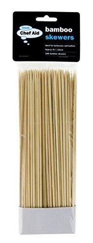 Chef Aid 25,5cm Lot de 100brochettes en bambou, beige