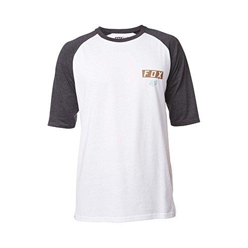 Fox T-shirt Moth SS Raglan, blanc, Taille XL
