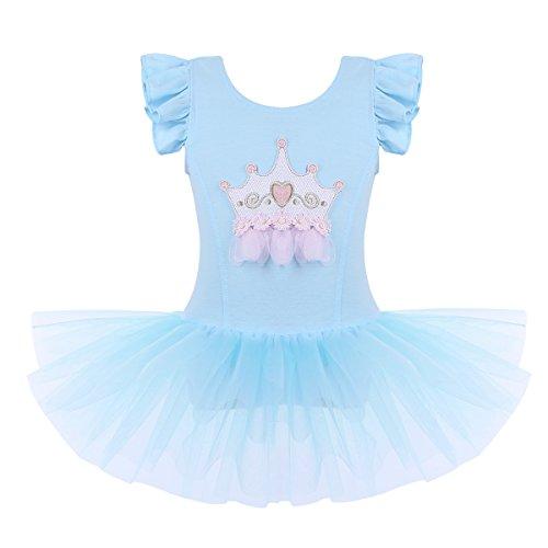 fd95e93dc55c8 IEFIEL Justaucorps de Danse Gym Enfant Fille Tutu Robe de Danse Ballet Robe  de Soirée Cérémonie