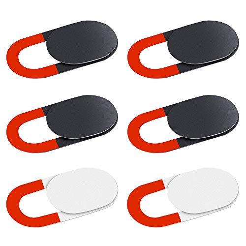KIWI design Cache Webcam 6 pcs Webcam Cover Cache Camera Ordinateur Portable Ultra-Mince pour...