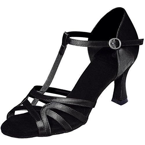 L@YC Donne scarpe da ballo Belly / Latin Dance Sneakers / Moderno / Satin Fine Vita con multicolore personalizzato Black
