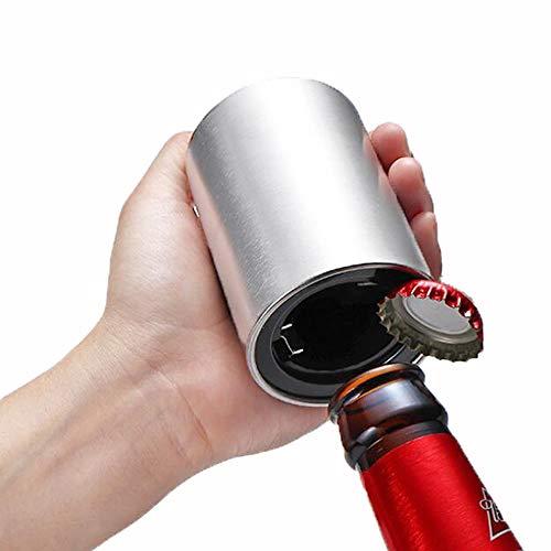Bierflaschenöffner, Magnet Edelstahl, Elegante magnetische Flaschenöffner nach unten drücken, ()