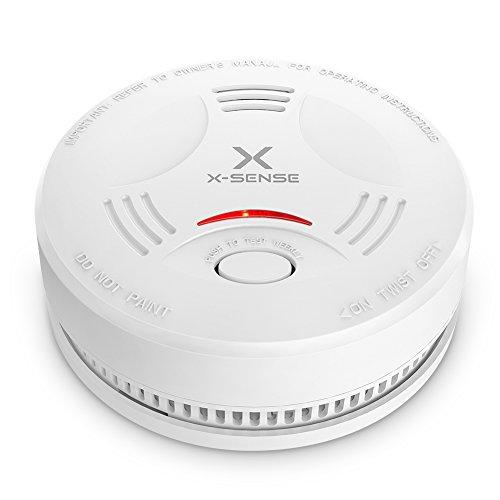 X-SENSE Rauchmelder mit 10 Jahren Batterielaufzeit, DIN EN 14604 und TÜV-zertifizierter Rauchwarnmelder mit intelligentem Feueralarm, Auto-Check und fotoelektrischem Sensor | Verbesserte Ausführung, 1er Set