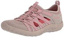 Skechers REGGAE FEST, Women's Closed Toe Sandals, Beige (Taupe Knit/Pink Trim Tppk), 4.5 UK (37.5 EU)