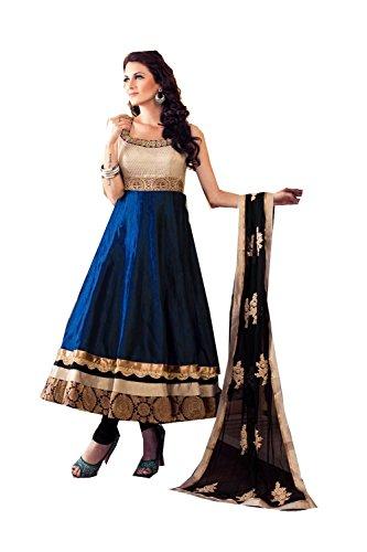 IWS Indian Women Designer Party wear blue Anarkali Salwar Kameez K-5868-54070 (Kameez Anarkali Salwar)