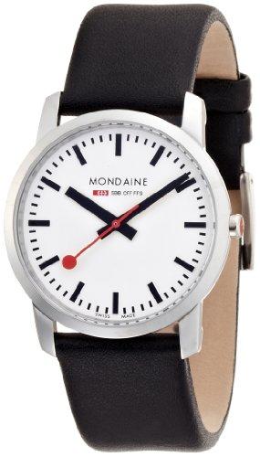 Mondaine - A672.30351.11SBB - Montre Homme - Quartz Analogique - Bracelet Cuir Noir